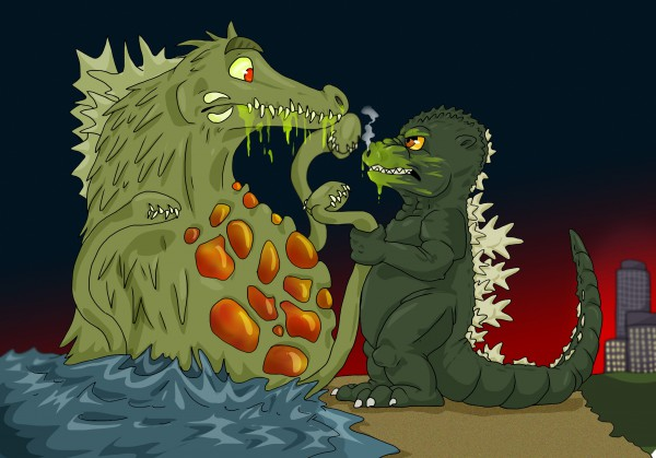 Godzilla vs Biollante - Fun Poster