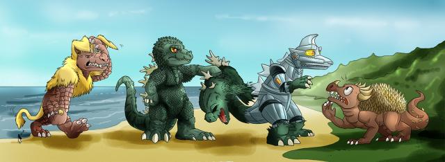 Godzilla vs Mechagodzilla - Fun Poster