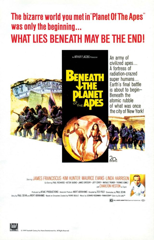 Beneath the Planet of the Apes - Poster 1