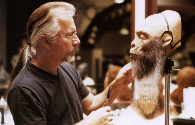Rick Baker - Planet of the Apes - 2001 - backstage 1