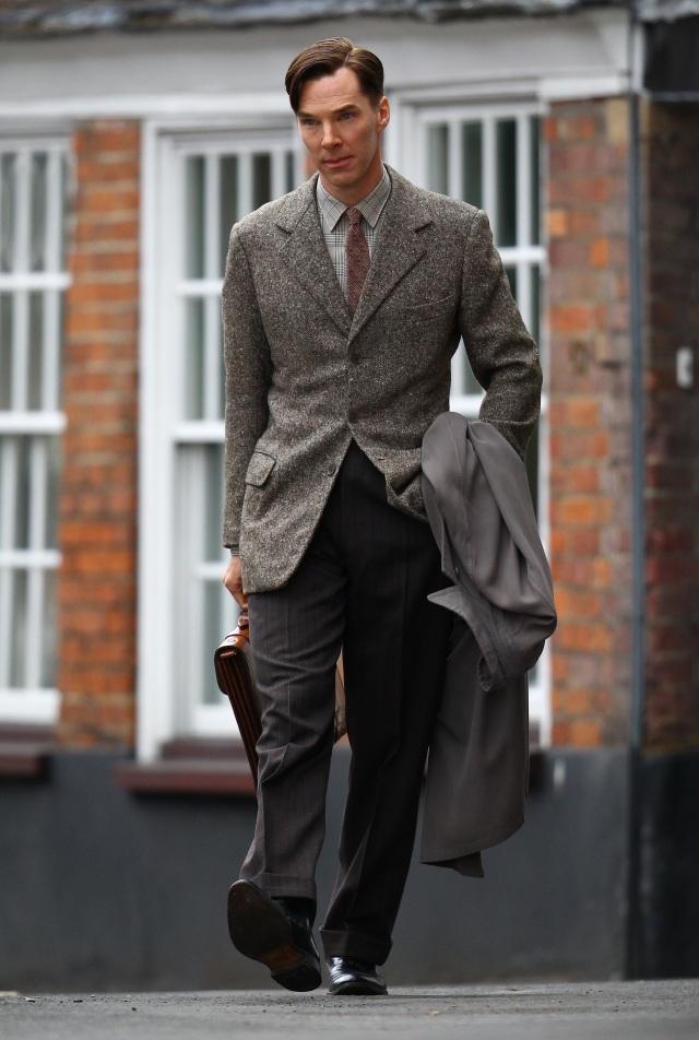 Cumberbatch Knightley film set