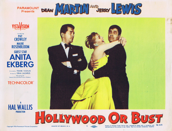 Hollywood or Bust - lobbycard 1