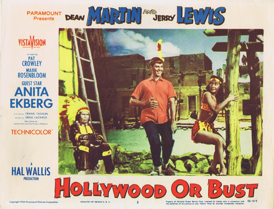 Hollywood or Bust - lobbycard 2