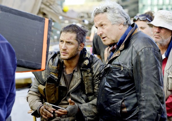 Mad Max - Fury Road - backstage - Tom Hardy and George Miller