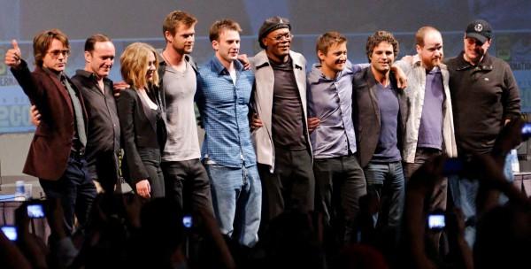 Chris Hemsworth, Mark Ruffalo, Chris Evans, Jeremy Renner, Robert Downey Jr., Scarlett Johansson, Clark Gregg, Joss Whedon