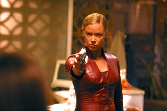 Oct 16, 2002; Hollywood, USA; Actress KRISTANNA LOKEN stars as T-X in the futuristic action thriller movie 'Terminator 3: Rise of the Machines.'  Mandatory Credit: Photo by Warner Bros./ZUMA Press.  (©) Copyright 2002 by Warner Bros.